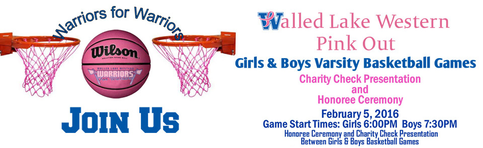 Walled Lake Western Pink Out Varsity Basketball Games 2016