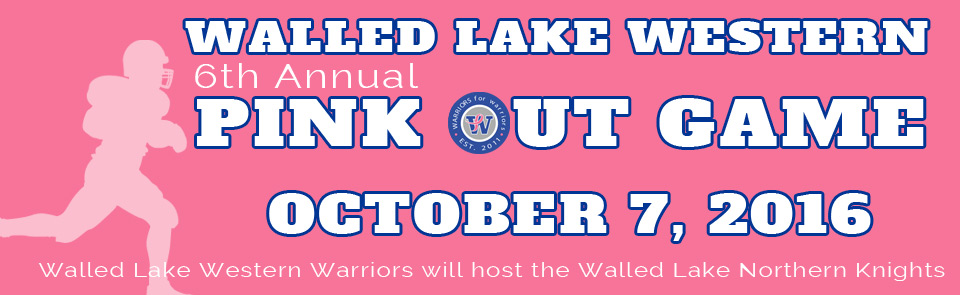 Walled Lake Western Pink Out Game 2016